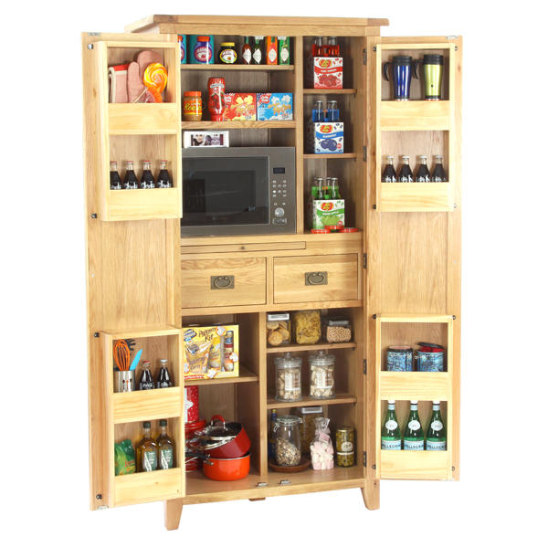 Le loft in light oak for Oak kitchen larder units