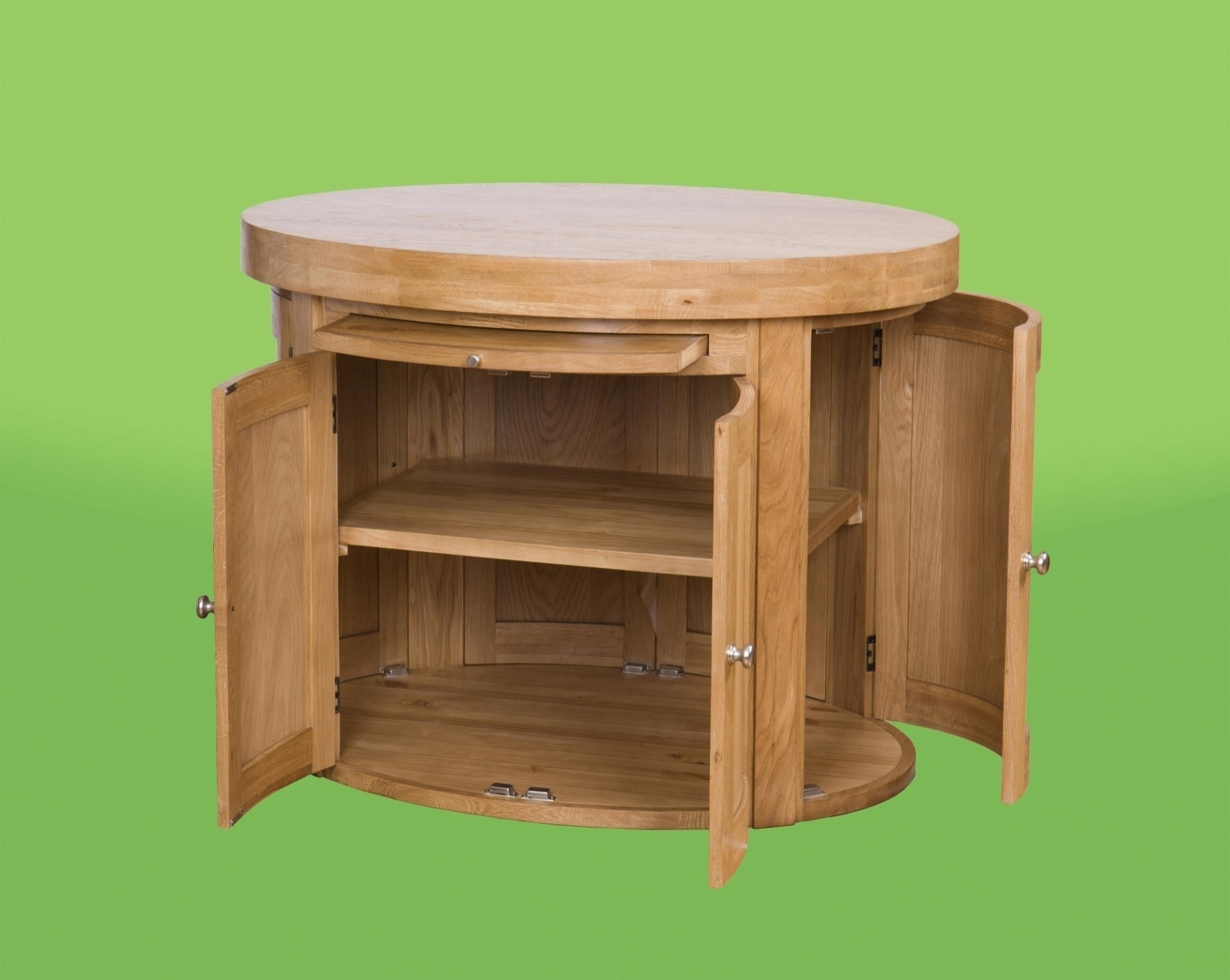 oval kitchen island with oak top aged oak kitchen island with sliding butcher block