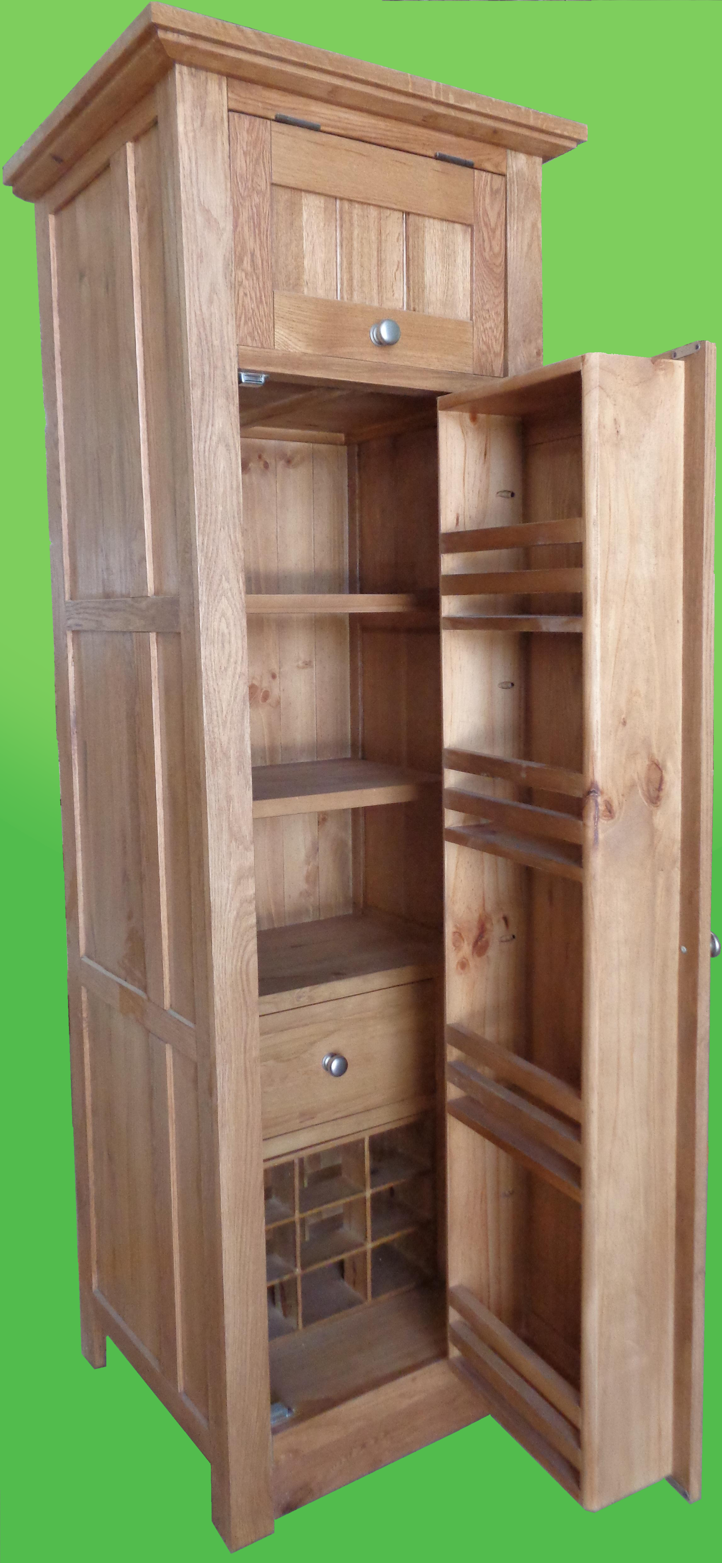 Single tall larder unit for Oak kitchen larder units
