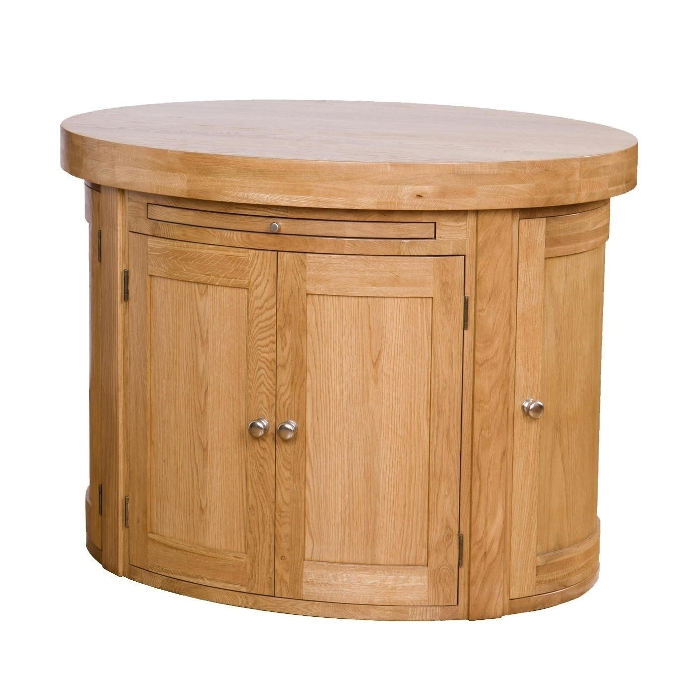 oval kitchen island with oak top oak kitchen island