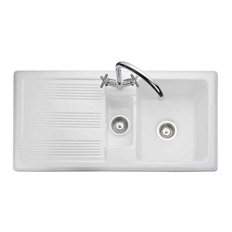 1.5 Bowl Ceramic Kitchen Sink - Reversible Drainer